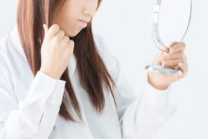 栄養不足による頭髪トラブル